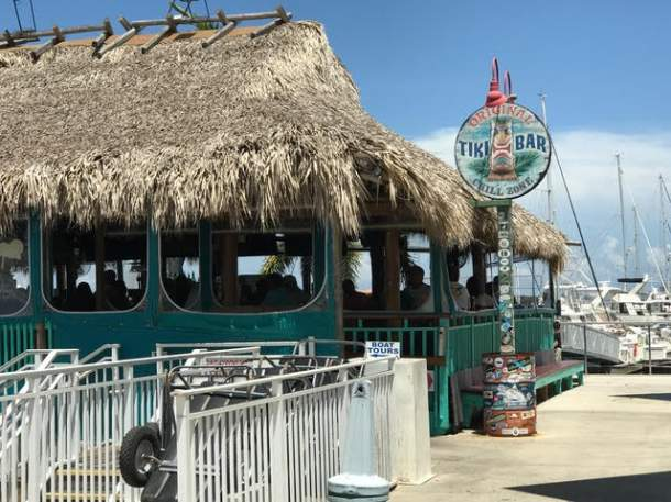 Local Tiki Bar on a floating dock